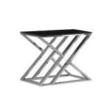 INSP. STOLIK JJ-1032 , 50 x 50 x 51cm czarny , biały , przezroczysty