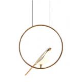 INSP. DESIGNERSKA Lampa wisząca ptak LED N-gale , złota