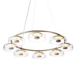 INSP. Lampa wisząca Tigel 8 Led 100 cm złota