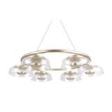 INSP. Lampa wisząca Tigel 6 Led 80 cm złota