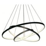 INSP. Lampa wisząca Ring triple Led 70 cm , czarny