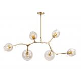 INSP. Dizajnerska Lampa wisząca Chemistry 6 brass
