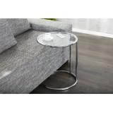 INSP. INVICTA stolik ART DECO chrom - metal , szkło