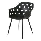 King Home Krzesło JASON czarne - polipropylen , metal