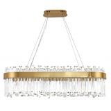 INSP. Lampa wisząca podłużna Lux 100 cm , kryształowa