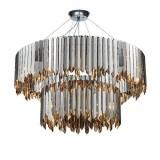INSP. Lampa wisząca kryształowa Crown 80 cm chrom