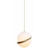 INSP. Iluminar Saturn - mleczna kula - nowoczesna lampa wisząca
