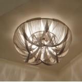 INSP. Plafon , Oprawa Sufitowa srebrne łańcuszki 70 cm TLA-C1