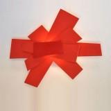 INSP. Kinkiet Bang czerwony , biały 60 cm B-B-W1