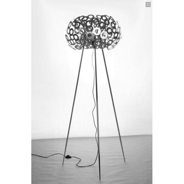 Lampa Podłogowa Dandelion 130 Cm Srebrna Złota Dnd F1